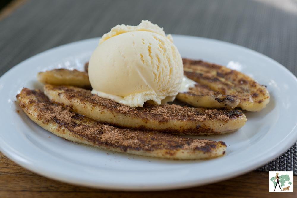 banana e sorvete de creme