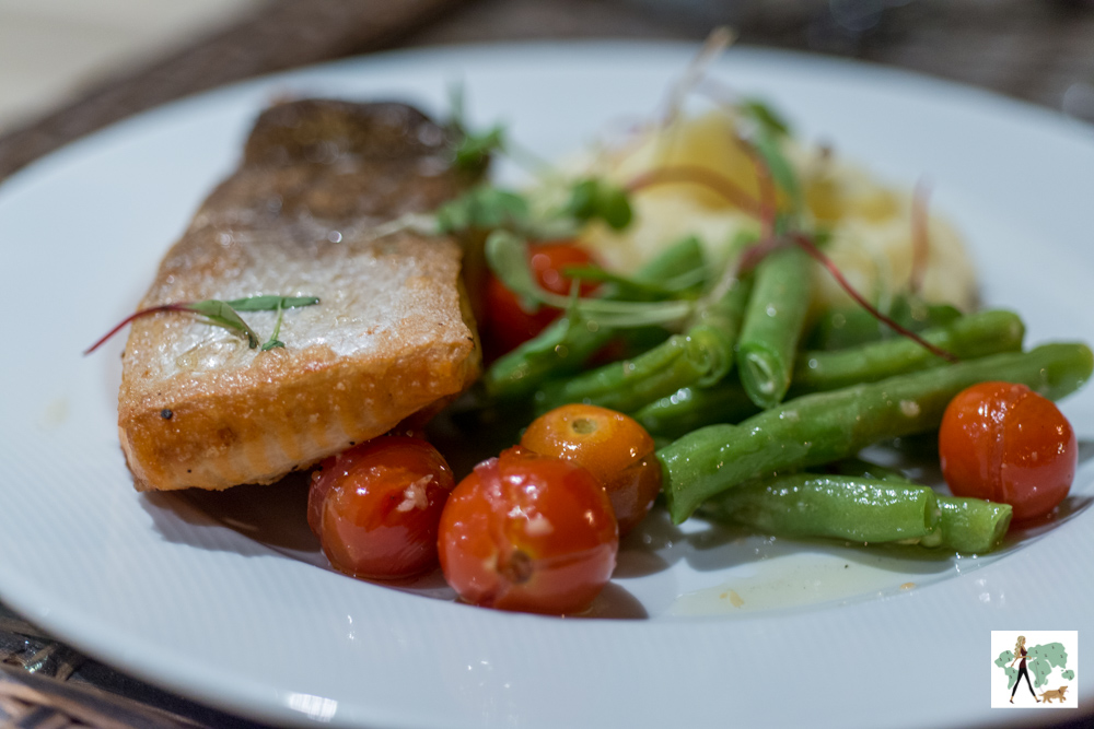 peixe de legumes