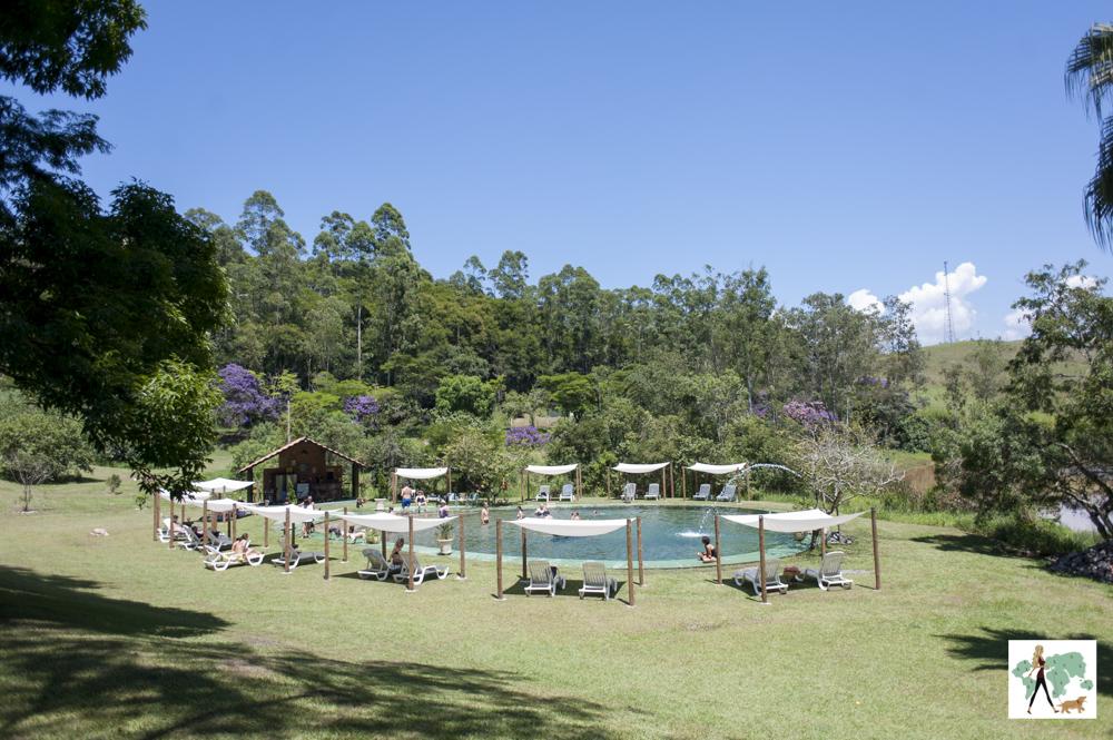 piscina e tendas na pousada Gaia Viva