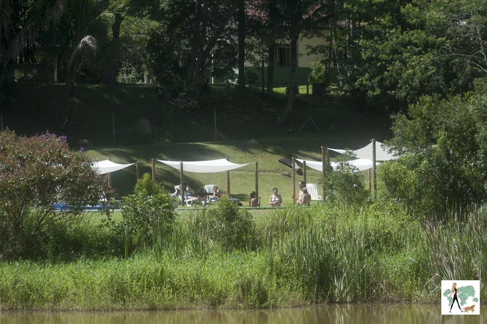 tendas e verde na pousada Gaia Viva