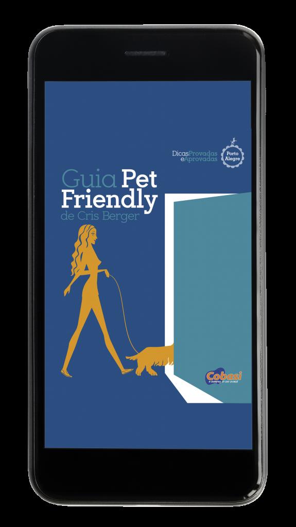 Livro digital Guia Pet Friendly RS na tela do smartphone