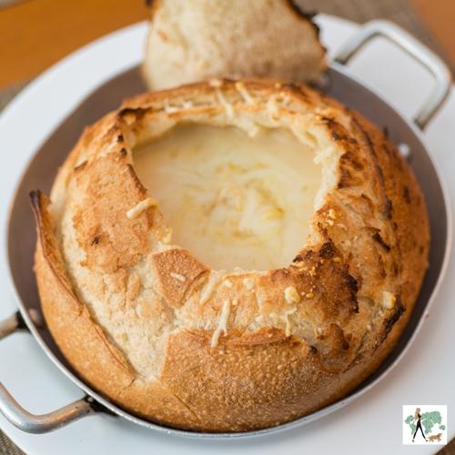 creme de queijo no pão