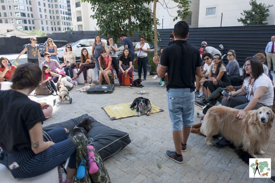 bate papo em evento pet do Guia Pet Friendly