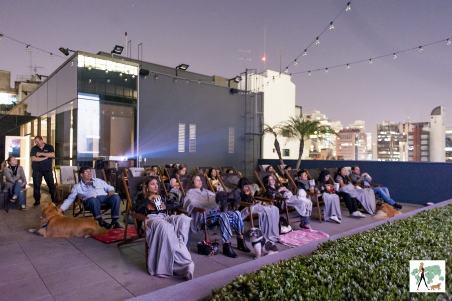 pessoas sentadas nas cadeiras do rooftop do Spaces Berrini