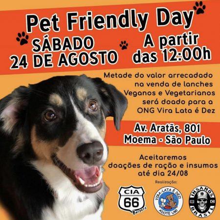 Convite para o Pet Friendly Day no dia 24 de agosto