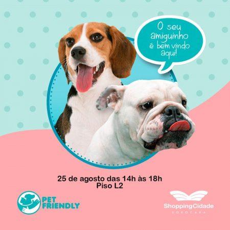 convite para o pet friendly day no dia 25 de agosto