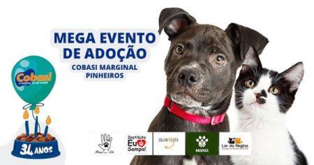 convite do mega evento de adoção da Cobasi Marginal Pinheiros