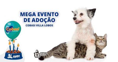 convite do mega evento de adoção da Cobasi Villa Lobos